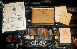 WW2 Royal Navy Petty Officer 7 Medal grouping Atlantic Convoys