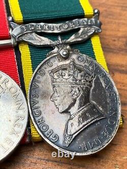 WWII British medal Group To Spr V Nettleskip Royal Engineers w Efficiency Medal
