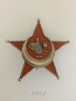 WWI Ottoman Turkish Imperial German Gallipoli Star or Eiserner Halbmond medal