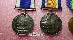 WWI Royal Navy Disting Srvc Medal Set WORLD WAR HMS HAREBELL L. F. Hannaford 8724