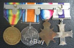 Ww1 1918 Royal Scots MC Gallantry Military Cross Medal Group