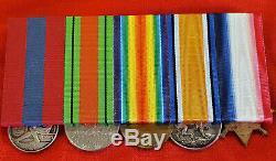 Ww1 British Navy Royal Marine Brigade Defence Atwerp Medal Group Ch16049 Evans