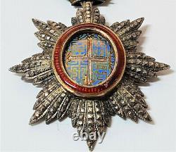 Ww1 Era Imperial France Annam Order Of The Dragon Medal Award Knight Grade