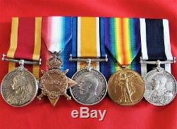 Ww1 Royal Navy Medal Group Chief Petty Officer Savin & China Service & Research