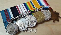Ww1 Royal Navy Medal Group To Chief Stoker King From Brighton Persian Gulf 1910