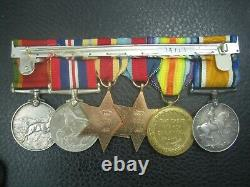Ww1 & Ww2 Rfc Royal Flying Corps Fighter Squadron Pow 1917 Medal Group
