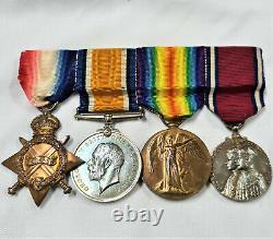 Ww1 & Ww2 Royal Navy Breslau Chase & Jutland Medal Group Paymaster Captain Tyers