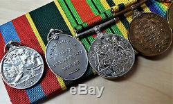 Ww1 & Ww2 Territorial Rsm Royal Artillery Medal Group 128087 Williams