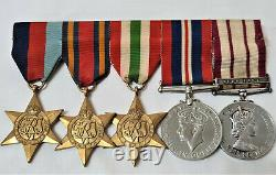 Ww2 & Operation Musketeer Royal Navy Medal Group To Able Seaman Stanley Suez