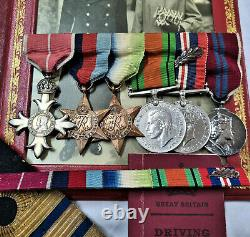 Ww2 Royal Navy Obe & MID Medal Group To Commander Gascoigne Atlantic Convoys