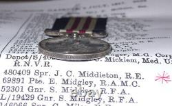 Wwi Military Medal To 1/2 West Riding Field Coy, Royal Engineers